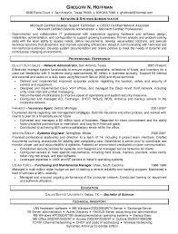 Networking Administrator Resume Resume Builder Software