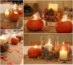 thanksgiving decorations for the home with corn glass candle light