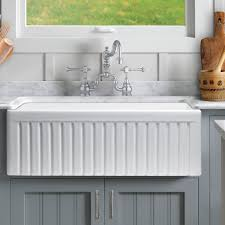 Sutton Place Reversible Fluted Front  X  Farmhouse Kitchen - Kitchen sink grid