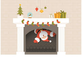 free christmas fireplace vector download free vector art stock