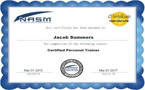 image gallery nasm personal training