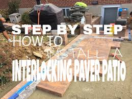 Snap Together Patio Pavers by Step By Step On How To Install An Interlocking Paver Patio In