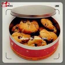 Oem Factory Display Christmas Cookie Cake Biscuit Metal Tin Box
