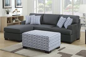 Sofa With A Chaise Lounge by Camille Black Fabric Chaise Lounge Steal A Sofa Furniture Outlet