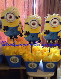 minions centerpieces minion centerpiece by tinksmagicaldeco on etsy minions birthday