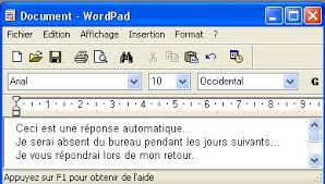 outlook message absence bureau réponse automatique avec windows live mail