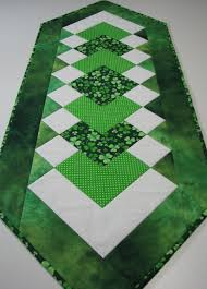 st patrick s day table runner quilted table runner st patrick s day table runner shamrocks