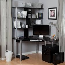 Black Corner Computer Desk With Hutch by Corner Office Desk Glass Top U2014 All Home Ideas And Decor