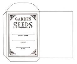 coloured templates printable seed packet templates great for spring seed exchanges