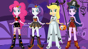 Pony Halloween Costume Girls Pony Equestria Girls Halloween Makeover Game Kids
