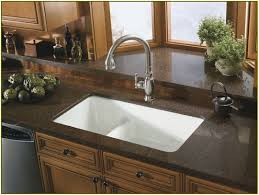 kitchen cabinet mixing kitchen countertop materials black island
