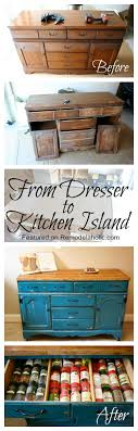 repurposed kitchen island ideas best 25 dresser in kitchen ideas on small kitchen