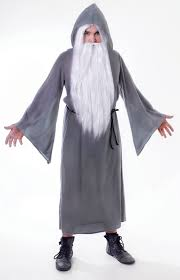costume wizard robe mens grey wizard cloak fancy dress costume gandalf dumbledore