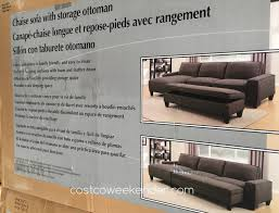 chaise sofa with storage ottoman costco weekender