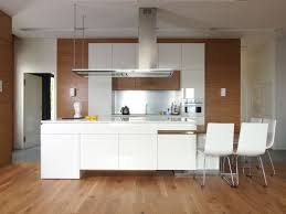 modern white kitchens elier above black painted wooden kitchen