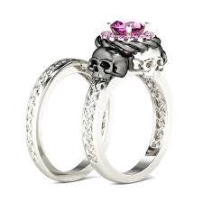skull wedding ring sets skull wedding band sets skull wedding ring sets crafty design 5