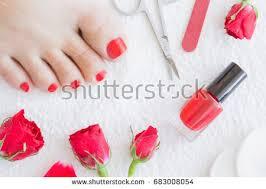 nail polish and woman u0026 39 s feet stock images royalty free images