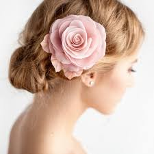 flower hair accessories blush pink flower hair clip bridal hair clip blush