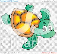 cartoon of a cute sea turtle royalty free vector illustration by