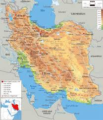 Physical Map Of China by Maps Of Iran Detailed Map Of Iran In English Tourist Map Of