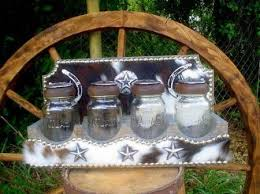 western kitchen canisters western decor glass kitchen canisters with cowhide covered