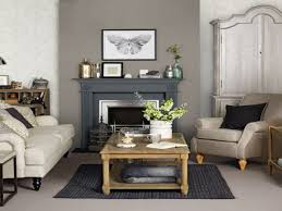 gray living room furniture brown tile ceramic fireplace wall beige