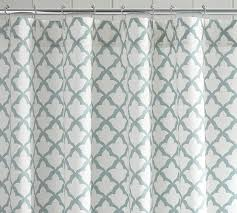 Turquoise And Grey Shower Curtain Marlo Organic Shower Curtain Pottery Barn
