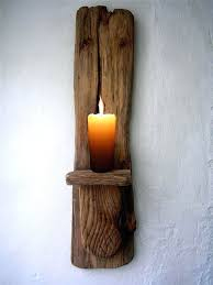Wall Candle Holders Sconces Sconce Large Driftwood Candle Holder Driftwood Candle Sconce