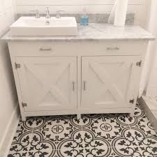 Vanity With Carrera Marble Top Farmhouse Vanity With Carrera Marble Top Jacuzzi Brand Farm Sink