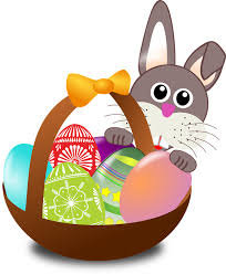 easter pictures free vector graphic easter bunny eggs nest basket free