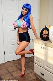 Baywatch Halloween Costume Carmen Electra Dons Cupcake Bra Morphs Katy Perry