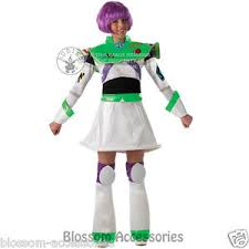 Toy Story Halloween Costumes Cl325 Ladies Buzz Lightyear Toy Story Fancy Dress Womens