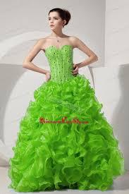 spring green a line princess sweetheart floor length organza