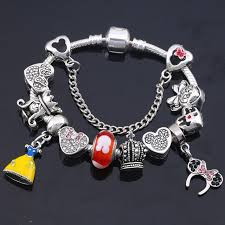 fine charm bracelet images Charm bracelet with mickey enamel beads 2nd collection reenold jpg