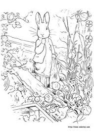 peter rabbit coloring picture beatrice potter friends