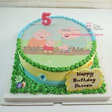 peppa pig cake photo print peppa pig cake photoprint