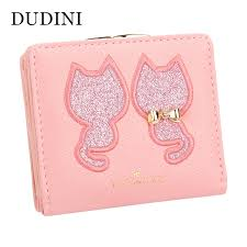 leather women s wallet pattern dudini pu leather women s wallet short section 2 fold solid color