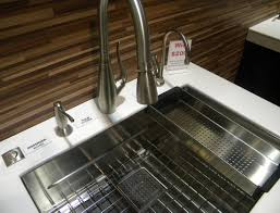 franke faucets kitchen franke s peak sink was a hit kbis2015 shown with franke s tulip