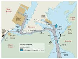 Map Of New York And Pennsylvania by Harbor Deepening Port Redevelopment Port Of New York And New