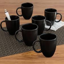 Modern Coffee Mugs Better Homes And Gardens Matte Swirl Mugs Black Set Of 6