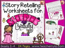 sleeping beauty retelling worksheets by teachernyla teaching