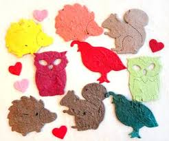 seed paper wedding favors 100 seed paper woodland animals wedding favors flower seed