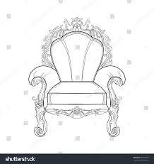 Armchair Furniture Baroque Rich Armchair Furniture Handmade Ornamented Stock Vector