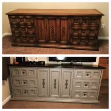 dresser makeover using general finishes java gel stain and annie