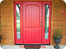 Red Door Paint by Pictures On Red Front Doors With Glass Free Home Designs Photos