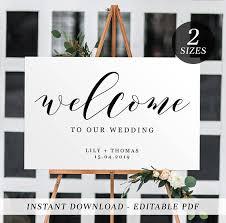 wedding signs template printable wedding welcome sign editable template welcome batman