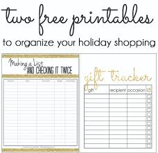 gift shopping list five minute friday two free printables to organize your