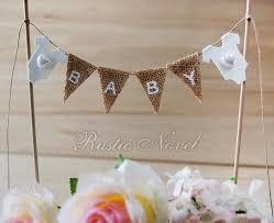 banner cake topper wedding baby shower cake topper burlap cake bunting birthday