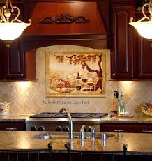 made the vineyard kitchen backsplash tile mural by paul
