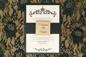 Damask Wedding Invitations Gold U0026 Black Elegant Damask Wedding Invitation With Envelope Liner